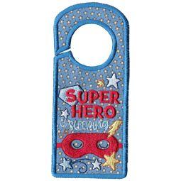 Superhero Sleeping Door Hanger
