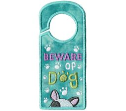 Beware Of Dog Door Hanger