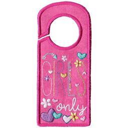 Girls Only Door Hanger