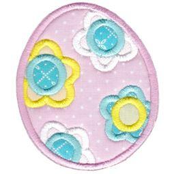 Floral Easter Egg Applique