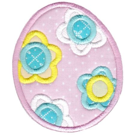 Floral Easter Egg Applique