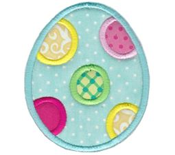 Polka Dot Easter Egg Applique