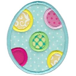 Polka Dot Easter Egg Applique