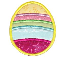 Striped Easter Egg Applique