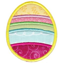 Striped Easter Egg Applique