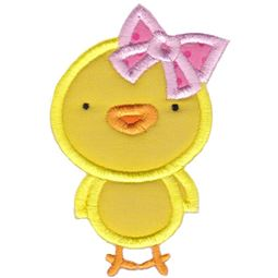 Girl Easter Chick Applique