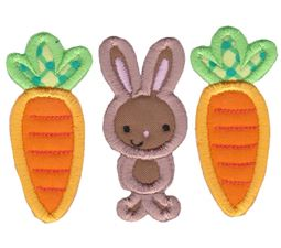 Carrots and Bunny Trio Applique