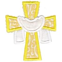 Cross and Shroud Applique