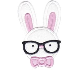 Hipster Boy Bunny Applique