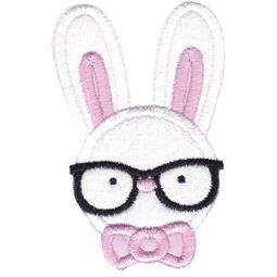 Hipster Boy Bunny Applique