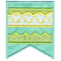 Aqua Striped Flag