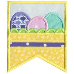 Row of Easter Eggs Flag
