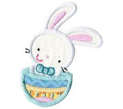 Easter Bunny In Easter Egg Applique