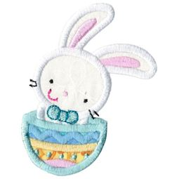 Easter Bunny In Easter Egg Applique