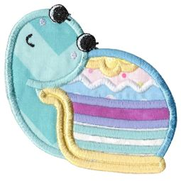Easter Egg Snail Applique