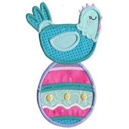 Chicken and Easter Egg Applique