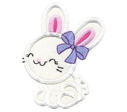 Cute Girl Bunny Applique