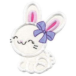 Cute Girl Bunny Applique