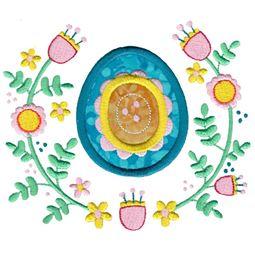 Modern Easter Egg Laurel Applique