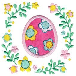 Flower Easter Egg Laurel Applique