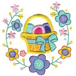 Easter Basket Laurel Applique