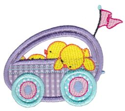 Easter Train Applique 12