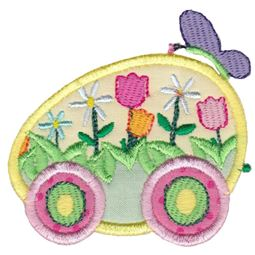 Easter Train Applique 15