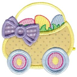 Easter Train Applique 2