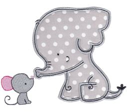 Elephant and Mouse Applique