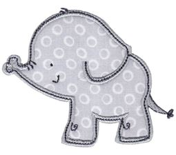 Boy Elephant Applique