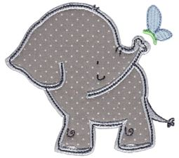Elephant and Butterfly Applique