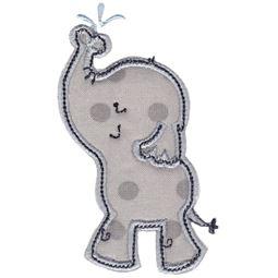 Boy Elephant Spraying Water Applique