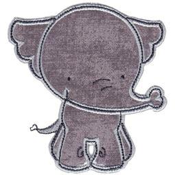 Front On Elephant Applique