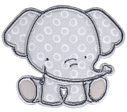 Sitting Elephant Applique