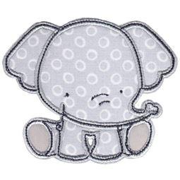 Sitting Elephant Applique