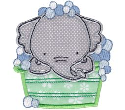 Bath Time Elephant Applique