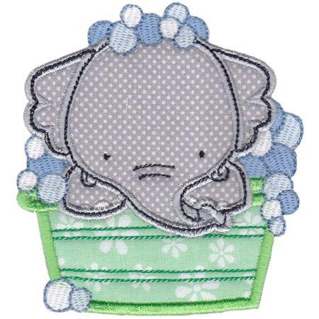 Bath Time Elephant Applique