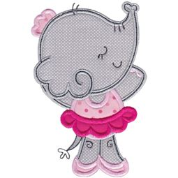 Ballet Elephant Applique