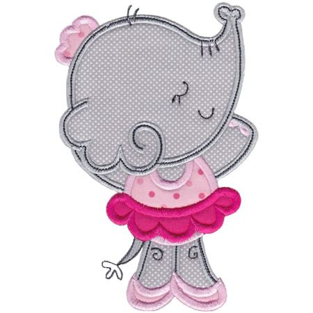 Ballet Elephant Applique