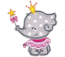 Princess Elephant Applique