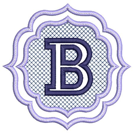 Embossed Monogram Font B