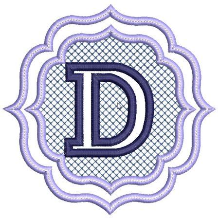 Embossed Monogram Font D