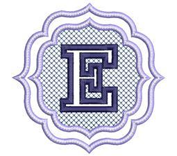 Embossed Monogram Font E