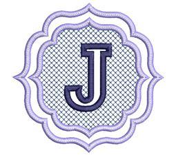 Embossed Monogram Font J