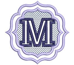 Embossed Monogram Font M