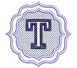 Embossed Monogram Font T