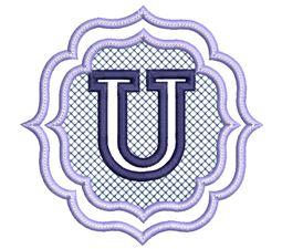Embossed Monogram Font U