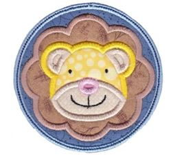 Lion Face In Circle Applique