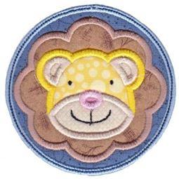 Lion Face In Circle Applique