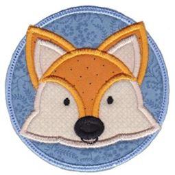 Fox Face In Circle Applique